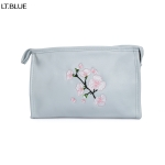 ECB1388C Cherry Blossom Embroidery Cosmetic bag, Blue