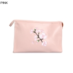 ECB1388C Cherry Blossom Embroidery Cosmetic bag, Pink