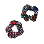 ETW1717F Abstract Pattern Hair Scrunchies (Dozen)