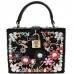 F1019 Velvet Jeweled Box Bag
