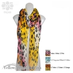 FA249 Multi Color Leopard Print Scarf