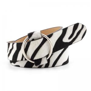 FSA007 Animal Print Pattern Belt - Zebra