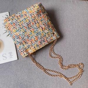 FB001 Tweed Style Tote Bag, Mustard