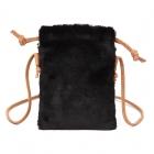 FB007 Faux Fur Small Cross-body bag, Black