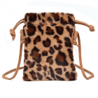 FB007 Faux Fur Small Cross-body bag, Brown