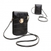 FB010 Faux Leather Small Cross-body Bag, Black