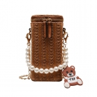 FB014 Square Small Cross-body Bag, Brown