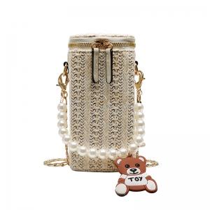 FB014 SQUARE SMALL CROSS-BODY BAG, WHITE