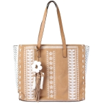FB021 Faux Suede with Embroidery Tote Bag