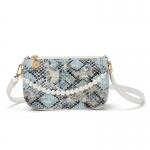 FB027 Python Pattern Mini Clutch/Cross-body Bag, Blue