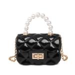 FB028 Solid Micro Satchel Bag, Black