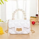 FB028 Solid Micro Satchel Bag, White