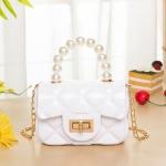 FB028 Solid Micro Satchel Bag, White