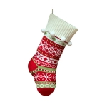 FC-02 Christmas Decoration knitted Big Sock - Red