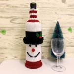 FC-06  Holiday Snowman Bottle Sock - Black
