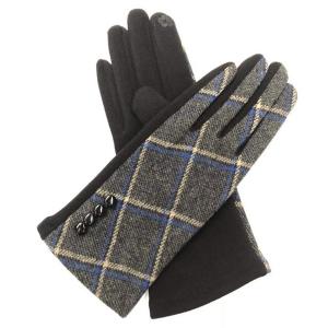 FG006 Checker Pattern Gloves, Black