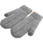 FG009 Solid Lined Mitten Touchscreen Gloves - Grey