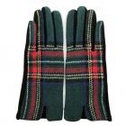 CG1731/FG018 Multi Plaid Smart Touch Glove - Green