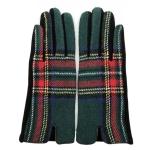 FG018 Multi Plaid Smart Touch Glove - Green