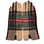 FG018 Multi Plaid Smart Touch Glove - Khaki