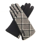 FG020 Check Pattern Smart Touch Gloves, Grey