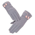 FG021 Little Bow-tie Double Layered Gloves -Grey
