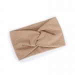 FH047 Solid Cross Knot Headband - Beige