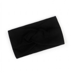 FH047 Solid Cross Knot Headband- Black