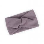 FH047 Solid Cross Knot Headband - Purple