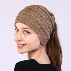 FH010 Solid Knitted Pattern Headband - Khaki