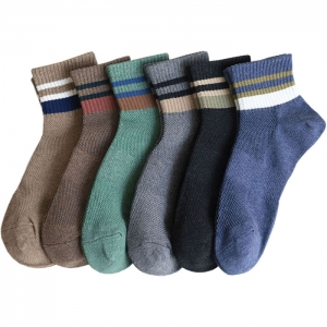 FO012 Solid Color & Stripes Pattern Socks