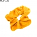 FH018 Solid Velvet Color Scrunchies Hair Tie  (1 Pack)