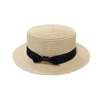 FH036A Straw Boater Hat, Natural