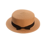 FH036A Straw Boater Hat, Khaki