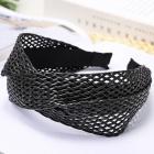 FH039 Twist Knot Straw Headband - Black