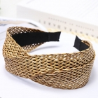 FH039 Twist Knot Straw Headband - Natural