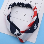 FH042 American Flag Print Knotted Headband