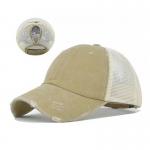 FH069 Solid Color Mesh Baseball Cap, Khaki