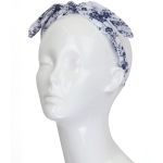 FHE0239 Floral Twisted Bow-tie Headband