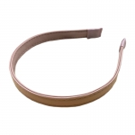 FHW006 Solid Color Faux Leather Headband, Pink