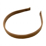 FHW006 Solid Color Faux Leather Headband, Coffee