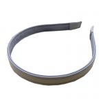 FHW006 Solid Color Faux Leather Headband, Grey