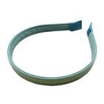 FHW006 Solid Color Faux Leather Headband, Green