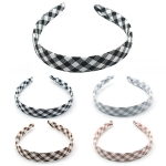 FHW008 Buffalo Plaid Pattern Headband (DZ Pack)
