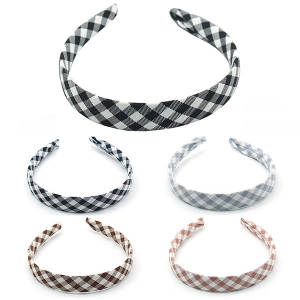 FHW008 Buffalo Plaid Pattern Headband (DZ Pack)