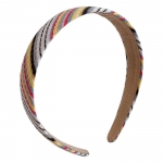 FHW017 Multi Color Stripes Pattern Headband, Grey (3pcs in a set)