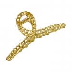 FHW063 Chain & Single Narrow Hair Claw, Gold Chain