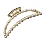 FHW068 Leopard Pattern Ribbon Hair Claw - 6 pcs in a pack