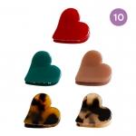 FHW072 Heart Shape Mini Hair Claw - 10 pcs in a pack
