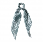 FHW074 Stylish Paisley Pattern Scrunchies, Blue